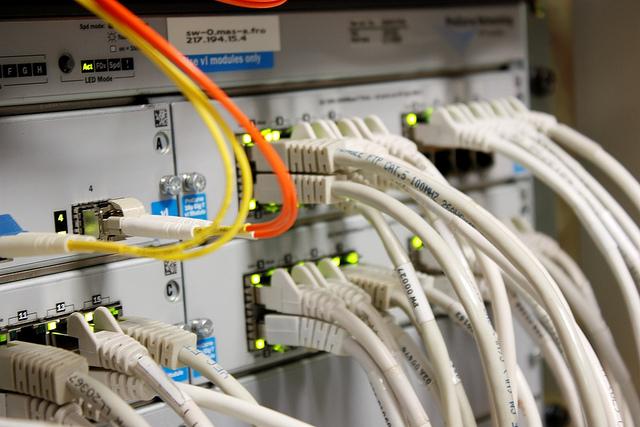 cablage reseau routeur switch
